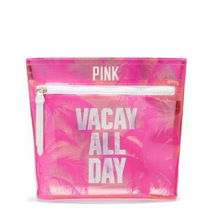 VICTORIAS SECRET PINK VACAY ALL DAY COSMETIC BAG